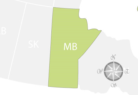 Province of Manitoba Map