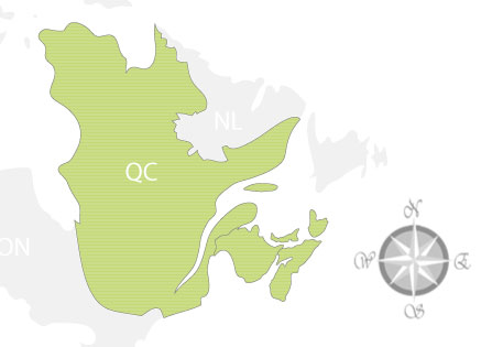 Province of Quebec Map