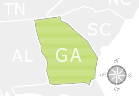 State of Georgia Map