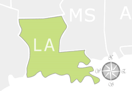 State of Louisiana Map