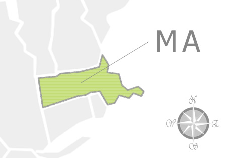State of Massachusetts Map