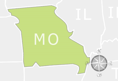 State of Missouri Map