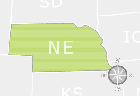 State of Nebraska Map