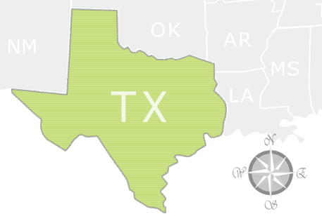 State of Texas Map