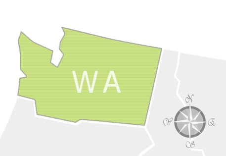 State of Washington Map